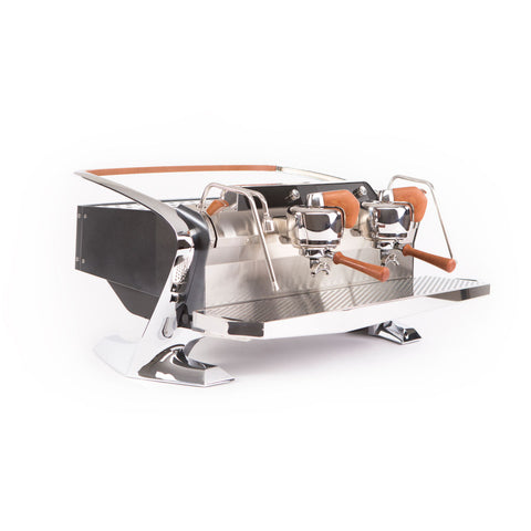 Slayer Steam X Commercial Espresso Machine 2 Group Black Front Angle