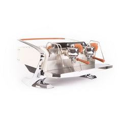 Slayer Steam X Commercial Espresso Machine 2 Group White Front Angle