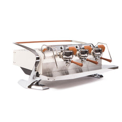 Slayer Steam X Commercial Espresso Machine 3 Group White Front Angle