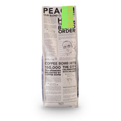 Truth Manhattan Project Give Peace A Chance Decaf Coffee Beans Bag Back
