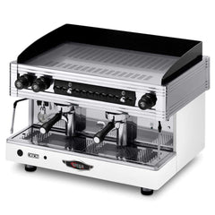 Wega Orion 2 Group Commercial Semi-Automatic Espresso Machine White Front