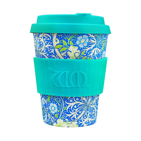 William Morris eCoffee Cup 340ml Seaweed Aquamarine