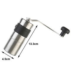 Porlex Mini Coffee Grinder with measurements