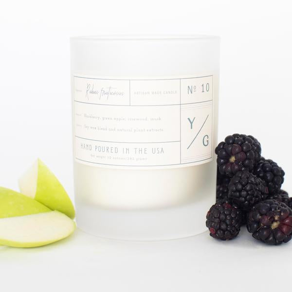 Young Gentry Candle #10 Rubus Fruticosis. 10 0z