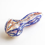 Clear Glass Spoon Pipe w/ Stripe | Weed Bowls For Sale | Free Shipping