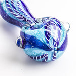 Two Tone Glass Pipe w/ Marbles | Weed Bowls For Sale | Free Shipping
