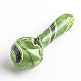 Green Glass Spoon Pipe w Swirl Stripe  Pipes For Sale Free Shipping