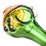 Honeycomb Green Glass Spoon Pipe  Pot Pipes For Sale  Free Shipping