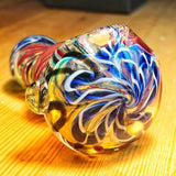 Mini Spiral Glass Spoon Pipe w/ Maria Rings For Sale | Free Shipping