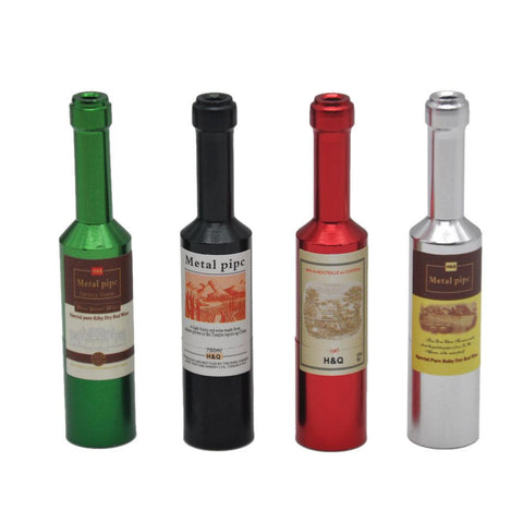 Wine Bottle Novelty Weed Pipe | Glass Pipes For Sale | Free Shipping