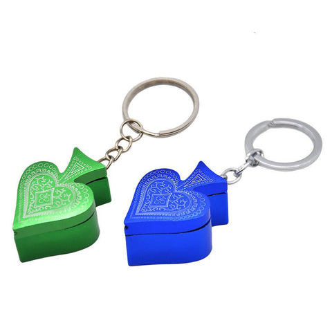 Key Chain Metallic Hearts Poker Portable Pipe For Sale | Free Shipping