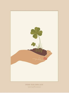 Poster - GROW YOUR OWN LUCK Papeterie - LOVELY nature GbR