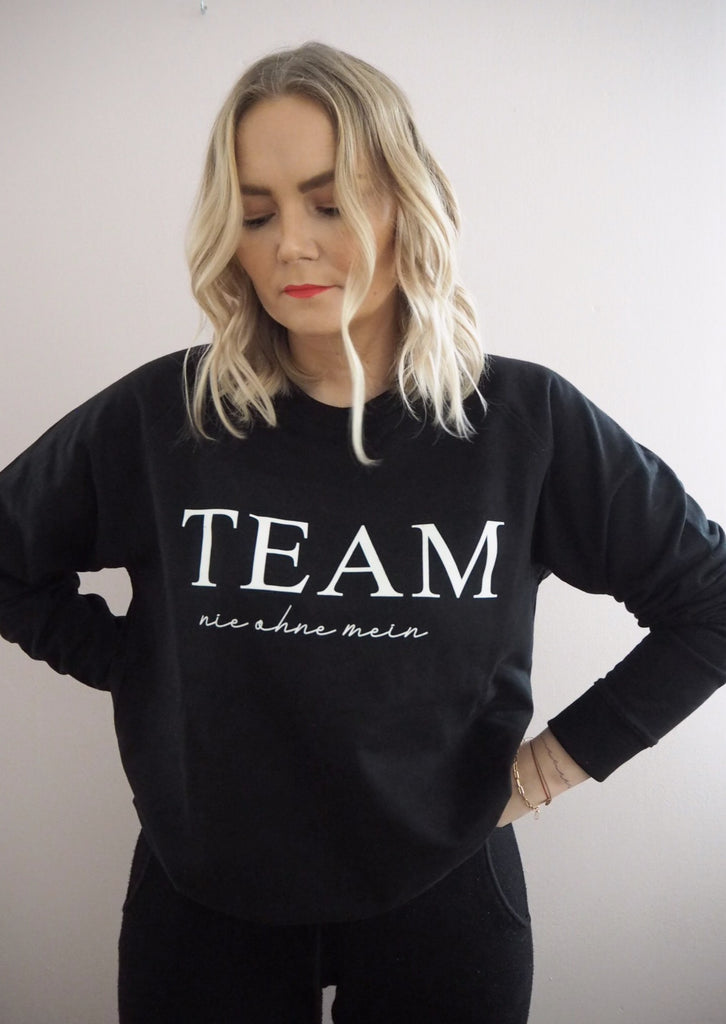 ''nie ohne mein TEAM'' Sweat Sweatshirt - LOVELY nature GbR