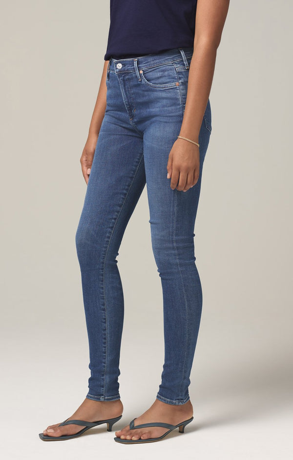 rocket mid rise skinny fit melody side