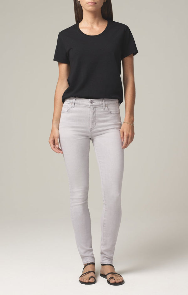 rocket crop mid rise skinny fit grey marble front