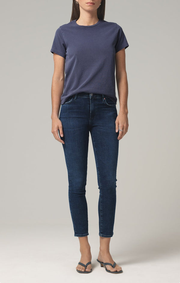 rocket crop mid rise skinny fit alto front