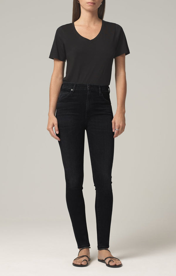 chrissy high rise skinny fit thrill front