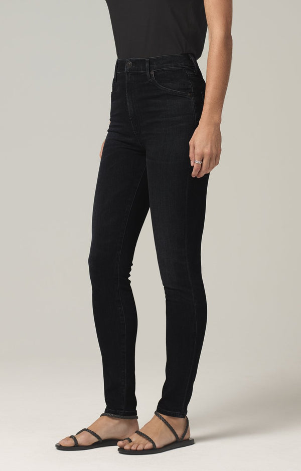 chrissy high rise skinny fit thrill side