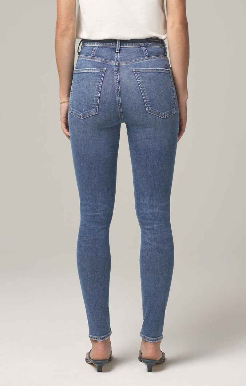 chrissy high rise skinny fit story back