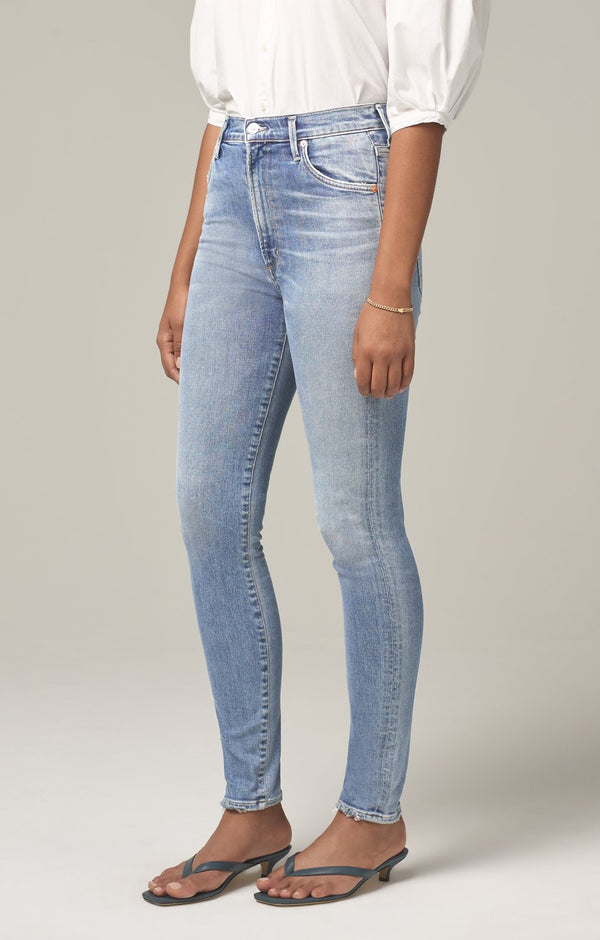 chrissy high rise skinny fit islands side