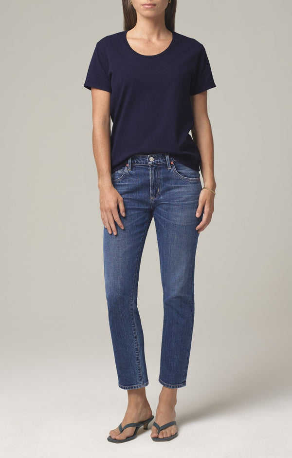 elsa mid rise slim fit crop prelude front