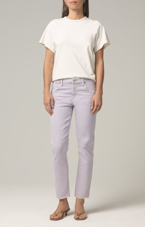 elsa mid rise slim fit crop french lavender front