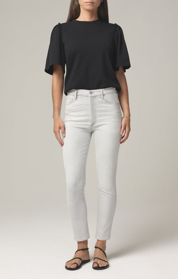 olivia high rise slim fit white pepper front