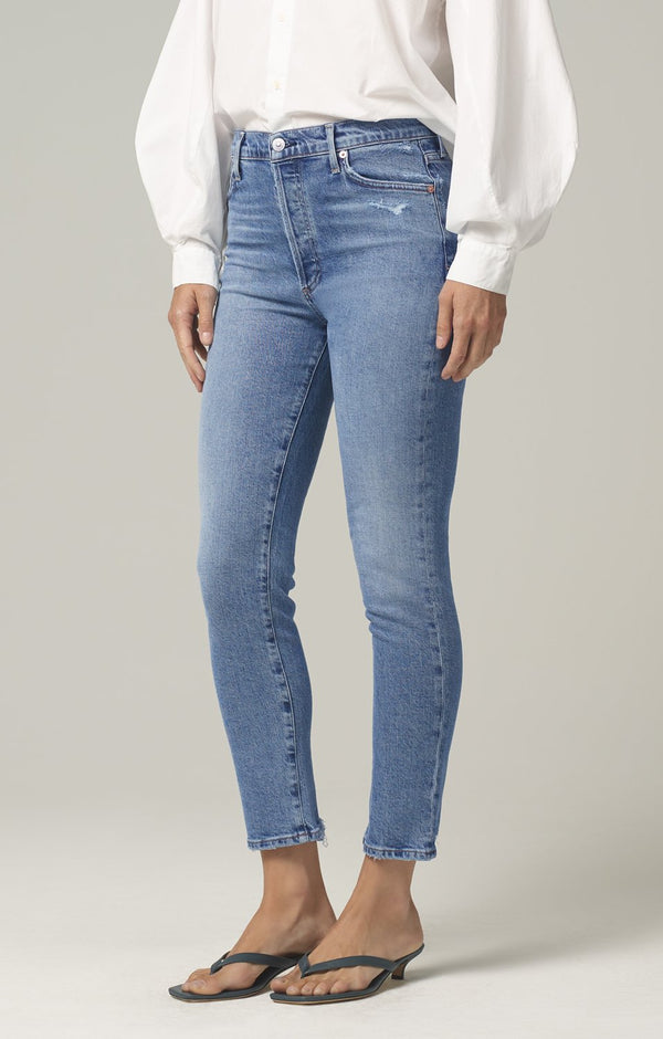 olivia high rise slim fit chit chat side