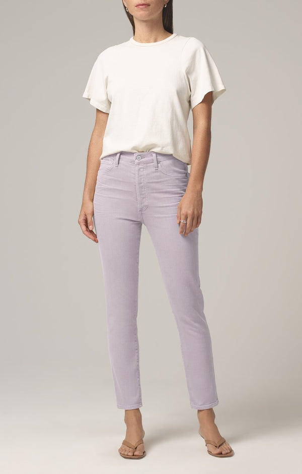 olivia high rise slim fit french lavender front