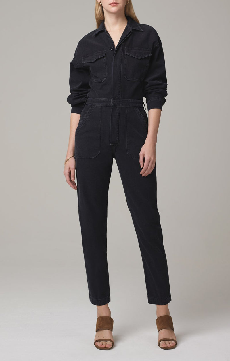 marta jumpsuit washed black front