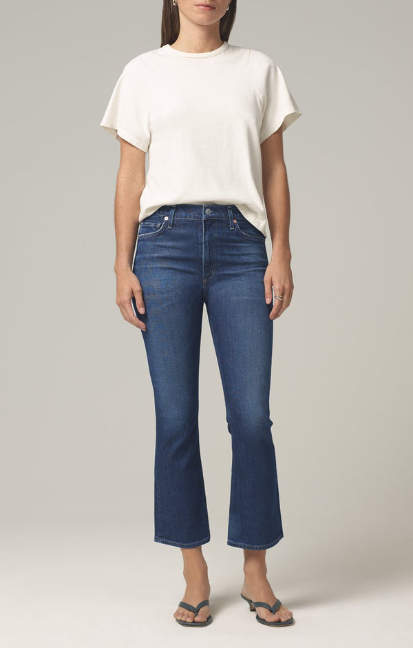 demy cropped flare denim gleams front