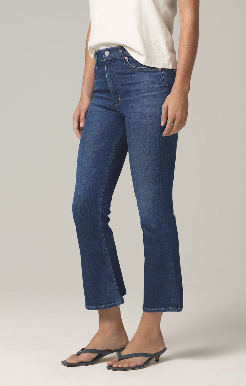 demy cropped flare denim gleams side