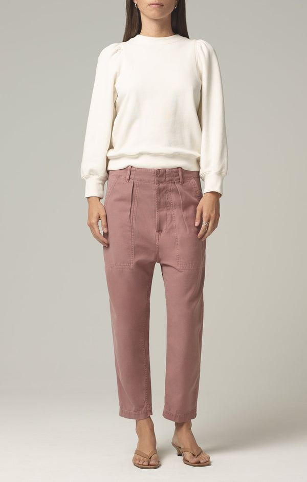 harrison tapered pant redwood front
