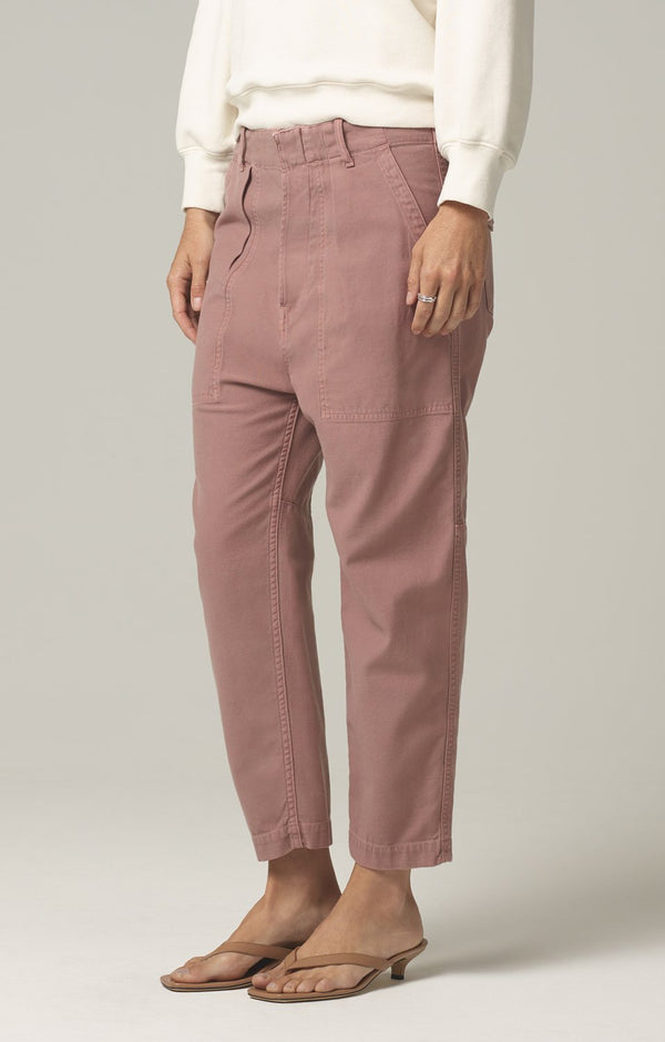 harrison tapered pant redwood side
