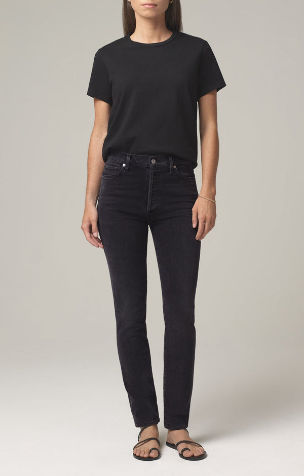 olivia long high rise slim fit oblivion front