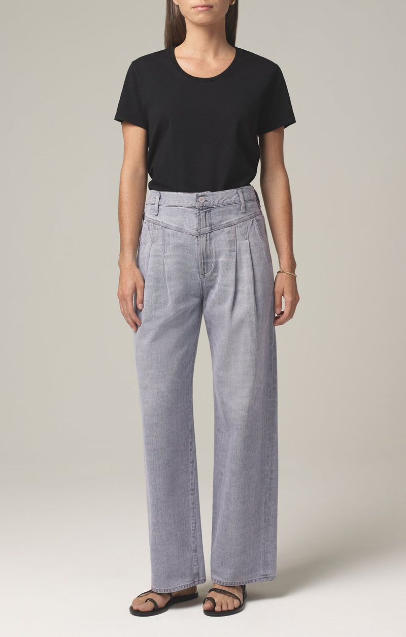 nancy pleat yoke trouser let it rain front