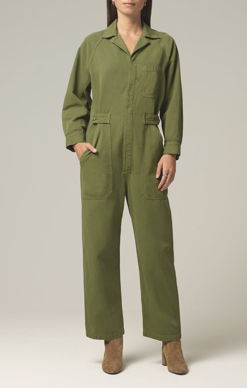 shay easy side button jumpsuit caper front