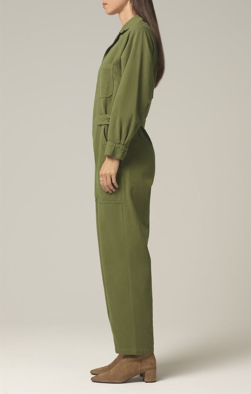shay easy side button jumpsuit caper side