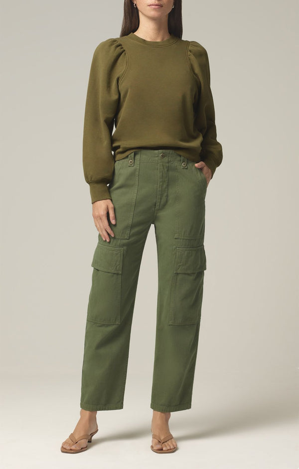 zadie high rise surplus pant aloe front