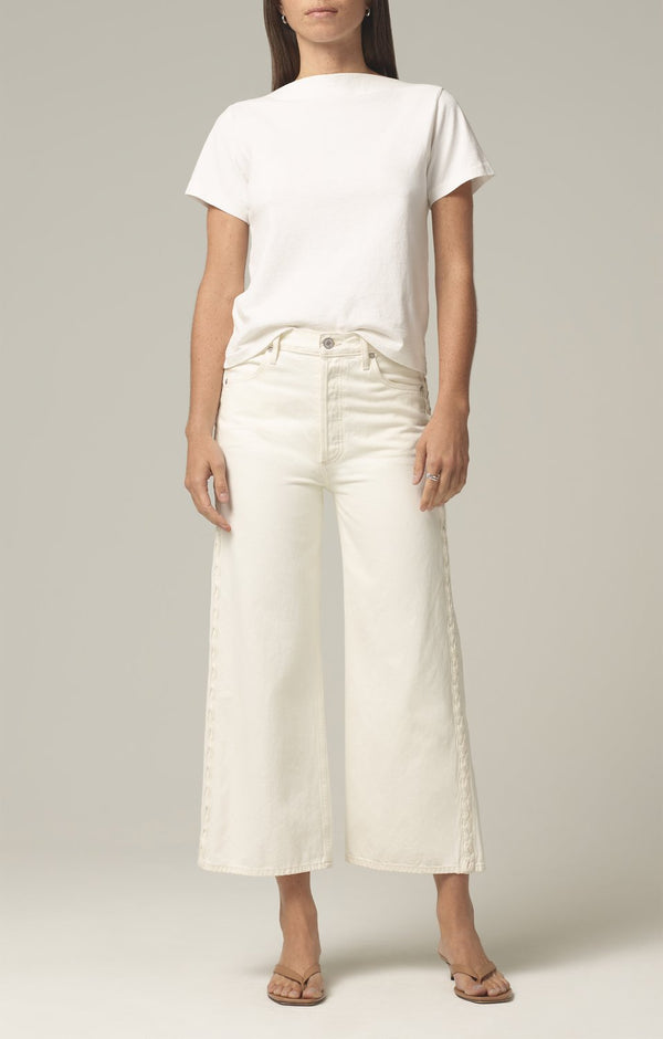 Sacha High Rise Wide Leg in White Willow