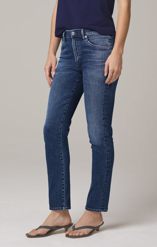Skyla Mid Rise Cigarette Pant in Charisma