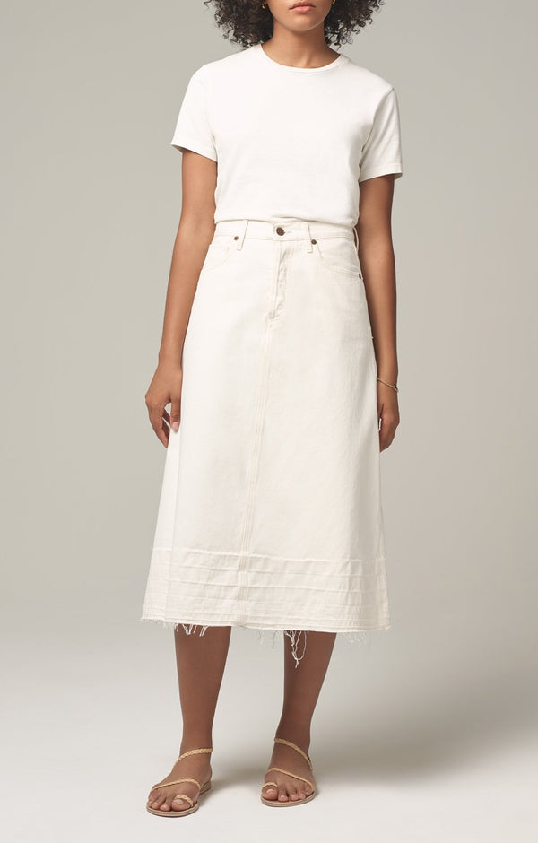 florence skirt white clay side
