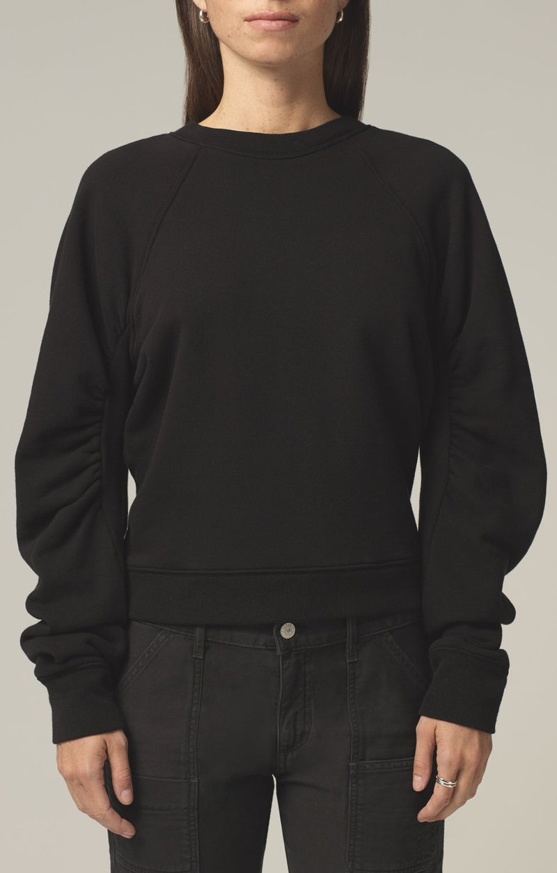 evelyn sweatshirt black front