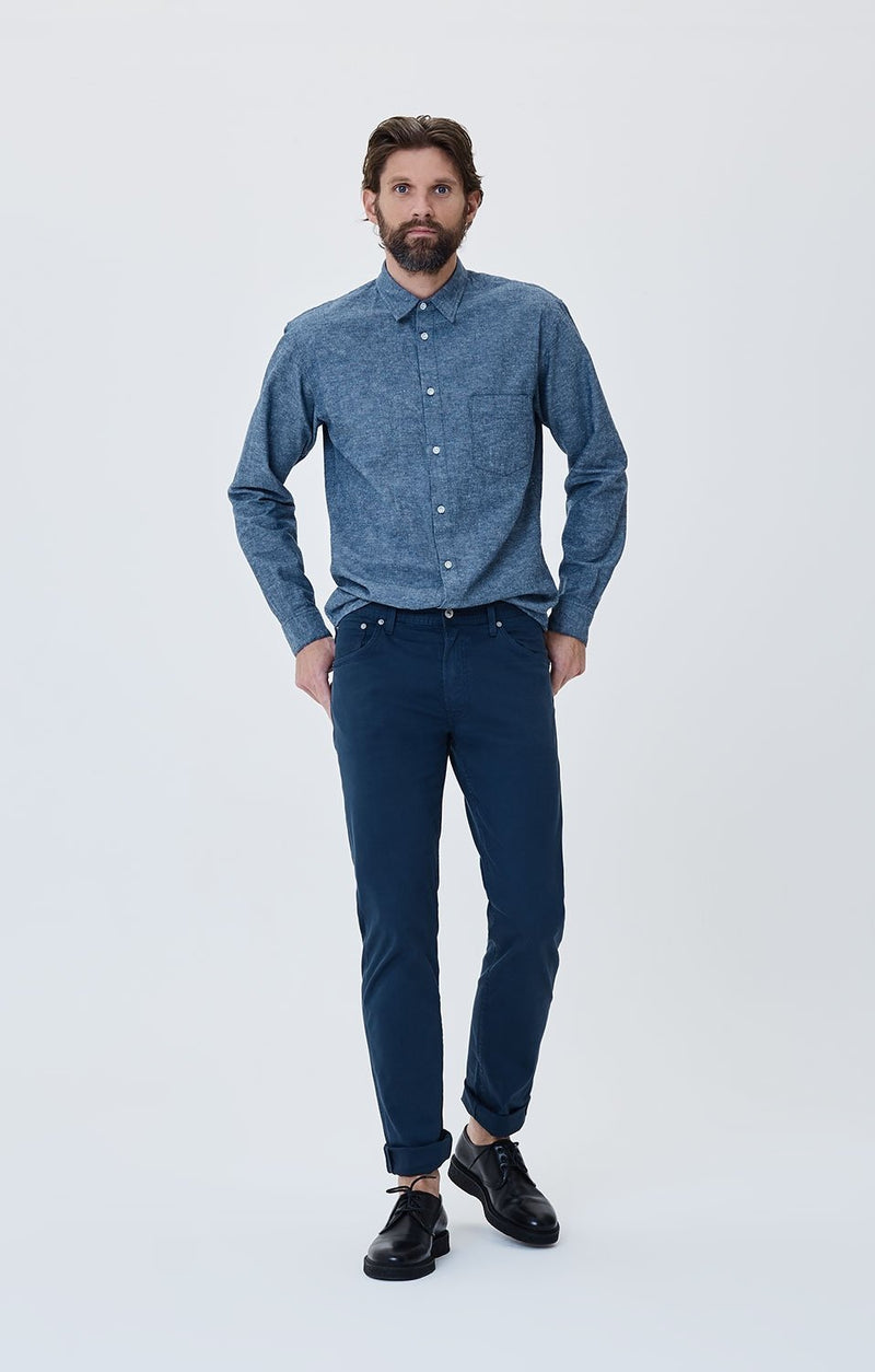 Bowery Standard Slim Fit Military Twill in Ocean