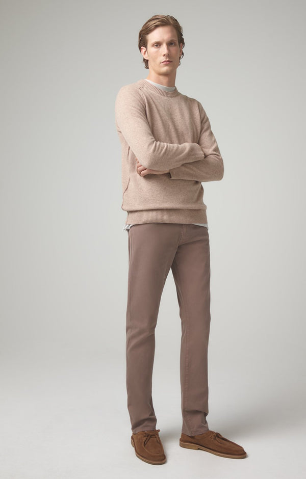 bowery standard slim fit latte front