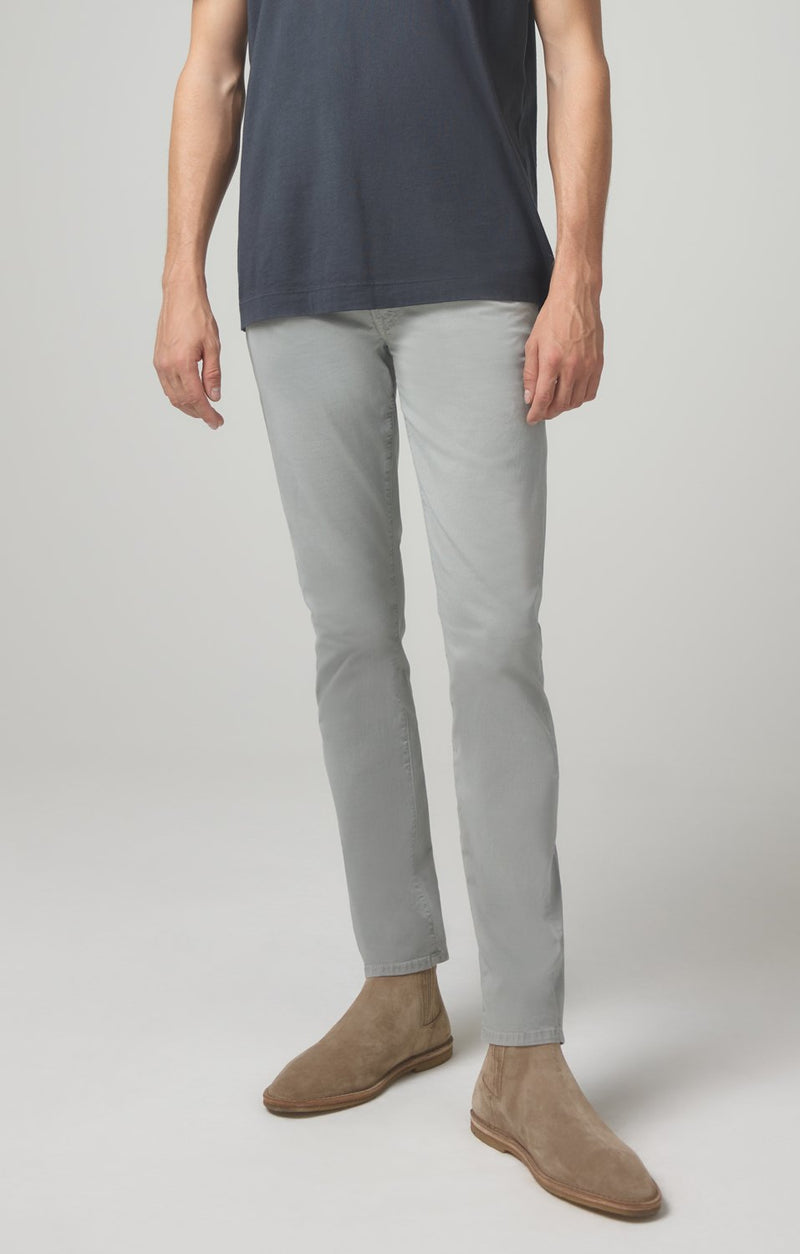 bowery standard slim fit mud dye front