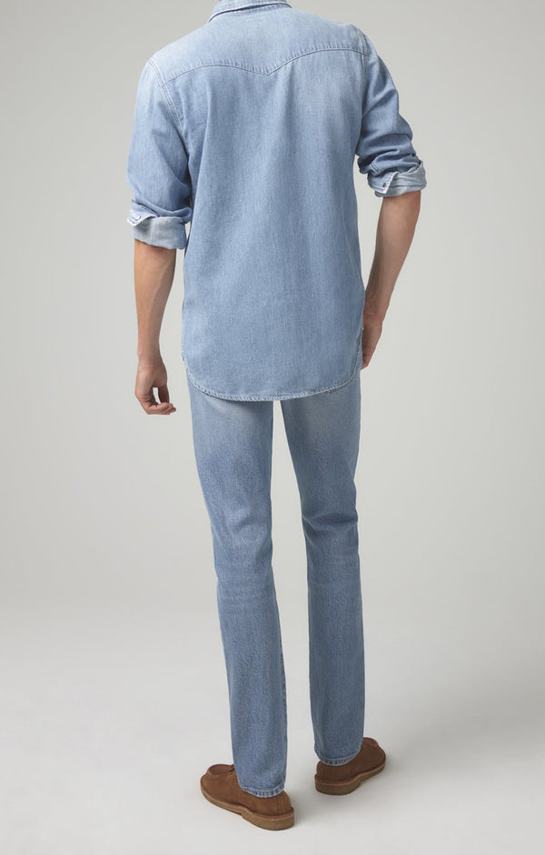 bowery standard slim fit vintage blue back
