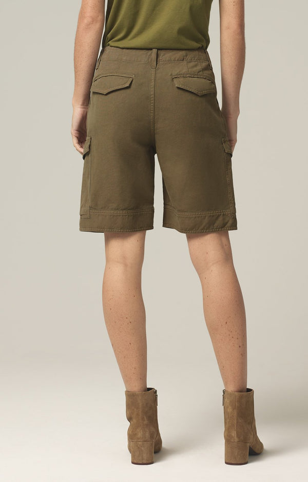Lily High Waisted Surplus Short in Caper