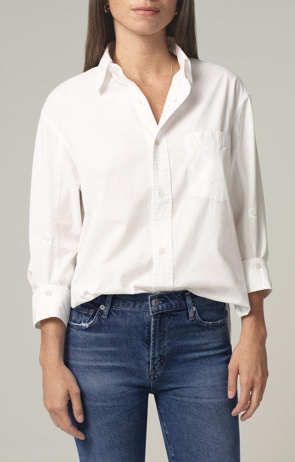 kayla shirt optic white front