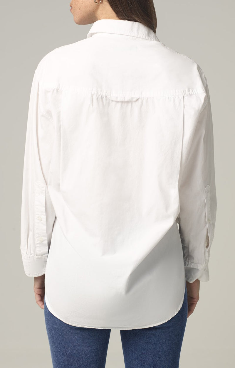 kayla shirt optic white back